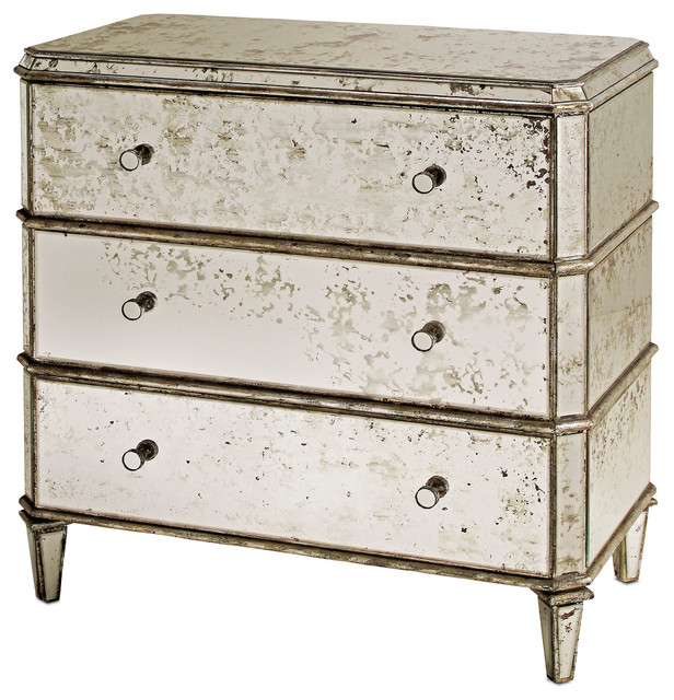 Currey and Company 4204 Antique Mirror Traditional Chest of Drawers - Currey And Company 4204 Antique Mirror Traditional Chest Of Drawers