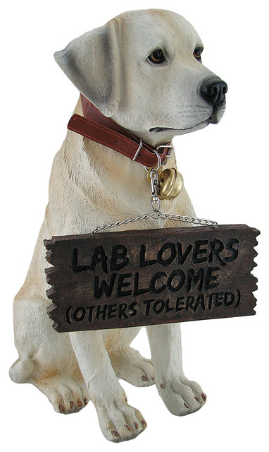 Adorable Labrador Retriever Garden Welcome Statue Garden