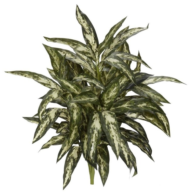 Aglaonema Artificial Plant in Green - Set of 3