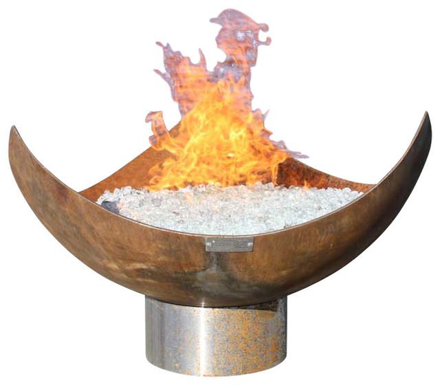 """King Isosceles Sculptural Firebowl, 30"""""""