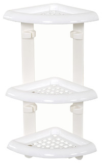 Zenna Home White 3-Shelf Shower Caddy