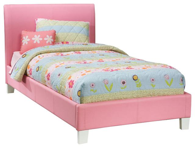 Standard Furniture Fantasia Upholstered Platform Bed In Pink Twin