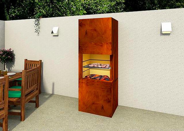 heizgrill cortenstahl mit ausschwenkbarem grillrost. Black Bedroom Furniture Sets. Home Design Ideas
