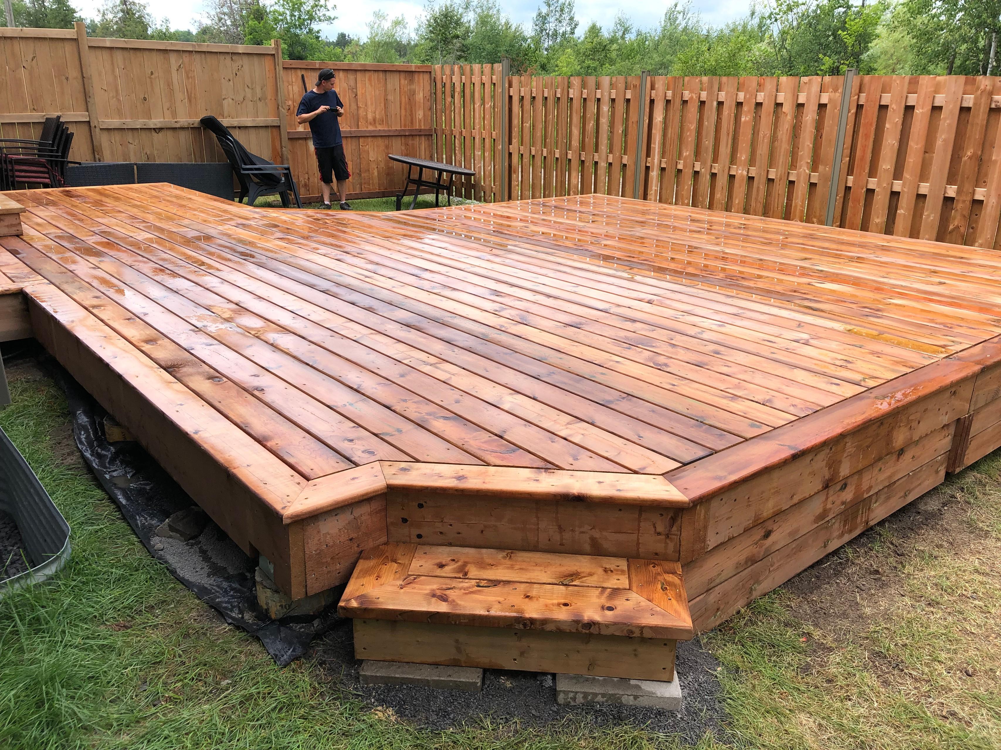 large pressure treated deck