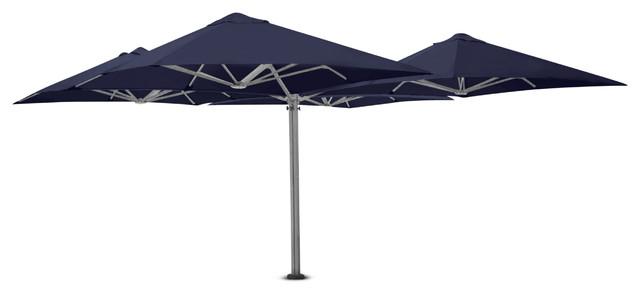9&x27;10 Square Quattro Midnight Blue Umbrella, Surface Plate.