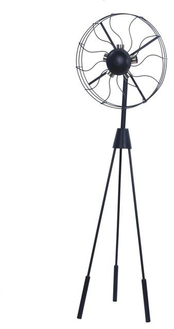 Adesso Odyssey Tall Floor Lamp, Satin Steel, 5233-22
