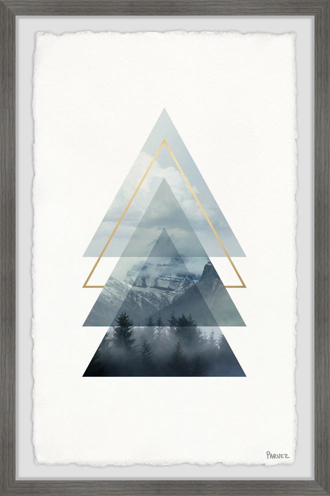 Triangular Forest Framed Painting Print Rustic Prints And Posters By Parvez Taj Houzz