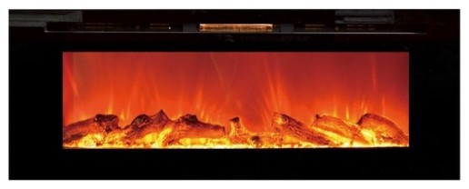 Touchstone Sideline50 50 Recessed Electric Fireplace, Black.
