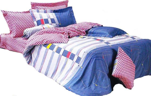 Twin 4 Piece Duvet Cover Set 100/% Cotton Trendy Kids Bedding LE455T
