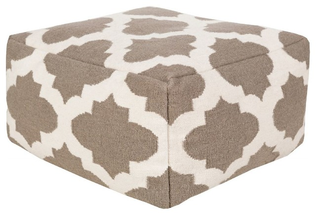 Sensational Surya Poufs Pouf Ottoman Neutral Square 24 Gmtry Best Dining Table And Chair Ideas Images Gmtryco
