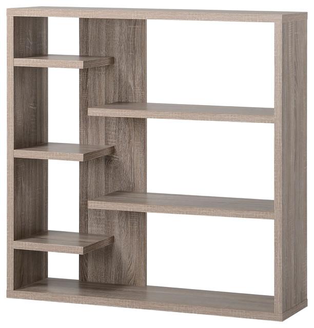 Homestar 6 Shelf Storage Bookcase, Reclaimed Wood.