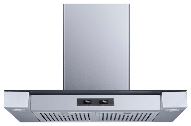 "Winflo 30"" 400 Cfm Convertible Stainless Steel Wall Mount Range Hood."
