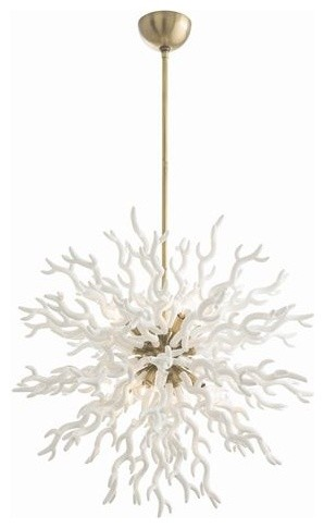 Diallo 8-Light Chandelier, White