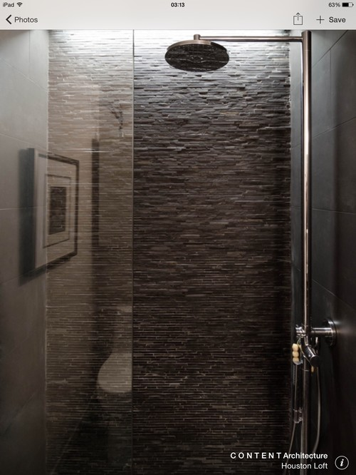 Using split face slate in a shower