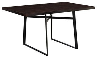 Monarch Dining Table, Cappuccino and Black