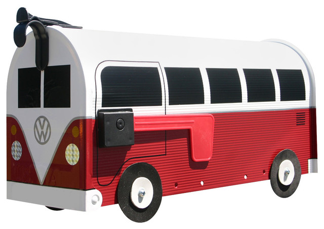 Red Volkswagen Bus Mailbox Vw Farmhouse Mailboxes By