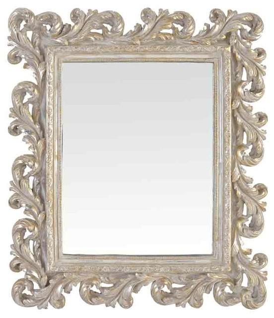 Baroque Wall Mirror emde silver baroque mirror - mediterranean - wall mirrors -emde