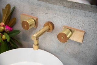 Leo Timber & Brass Tapware - Giuselle Bathrooms