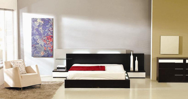 Wood designer furniture collecion with extra storage modern beds