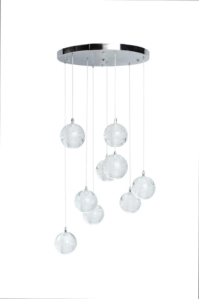 Finesse Decor Sparkling Spheres 9 Light Chandelier
