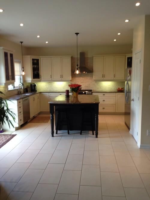 Kitchen tile floor replacement