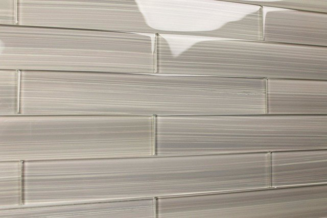 Warm Gray Glass Subway Tile Sample Contemporary Wall And Floor Tile