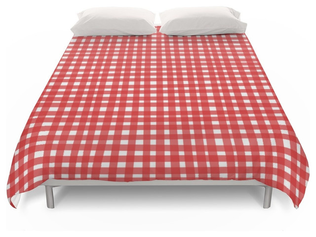 Society6 Society6 Red Gingham Duvet Covers Duvet Covers And Duvet Sets