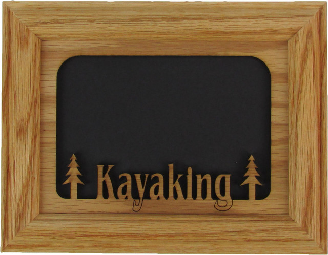 "Kayaking Oak Picture Frame and Oak Matte, 5""x7"" transitional-picture-frames"