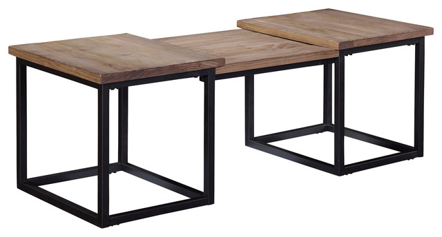 Broyhill Furniture Bedford Avenue Step Cocktail Table 8615 004 Industrial  Coffee Tables
