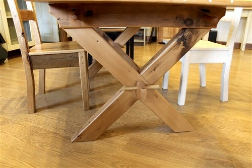 Saw Buck X Trestle Base Farm Table Farmhouse Boston By - Farm table boston