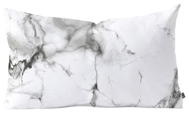 "Chelsea Victoria Marble Oblong Throw Pillow, 23""x14""."