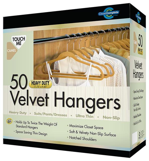 Camel Extra Strong Nonslip Velvet Suit Hanger Set Of 50