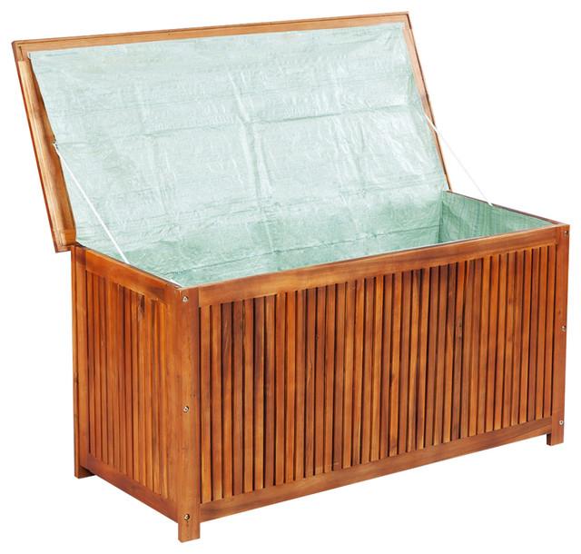 Brilliant Vidaxl Acacia Wood Outdoor Storage Box Patio Garden Pool Lawn Chest Container Inzonedesignstudio Interior Chair Design Inzonedesignstudiocom