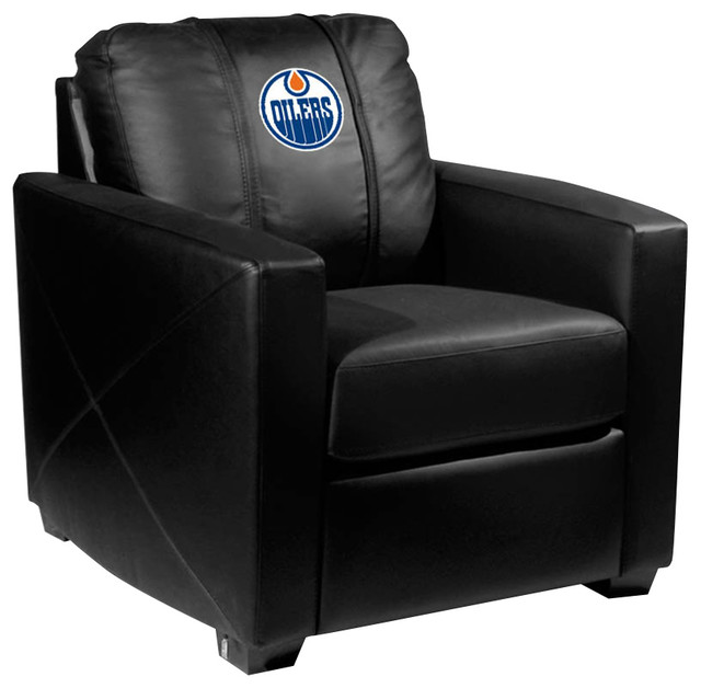 Peachy Edmonton Oilers Nhl Silver Chair Pabps2019 Chair Design Images Pabps2019Com