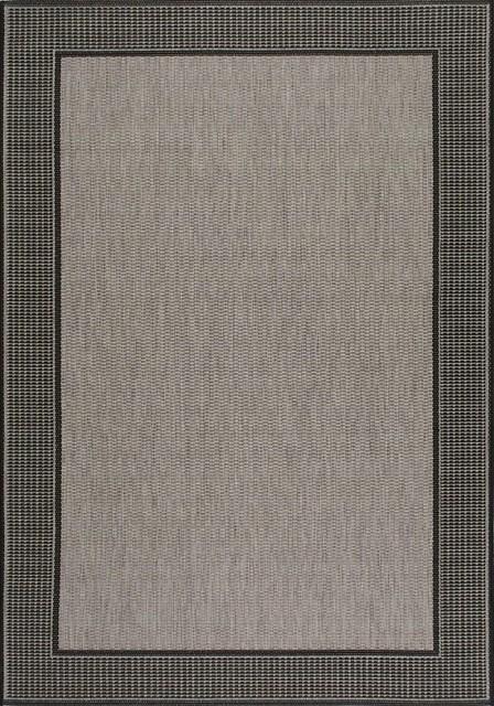 Indoor/outdoor Gris Area Rug, Rectangle, Gray, 8&x27;6x13&x27;.