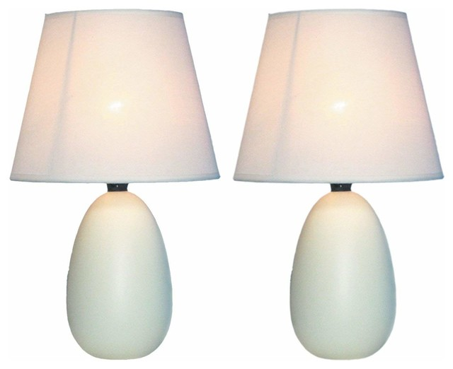 Mini Egg Oval Ceramic Table Lamps