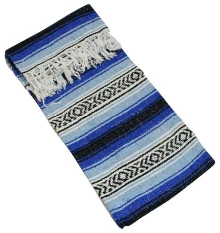 Sunnydaze premium mexican beach yoga blanket 82 x59 for Southwestern towel bars