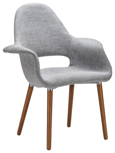Barclay Chair, Light Gray Midcentury Dining Chairs