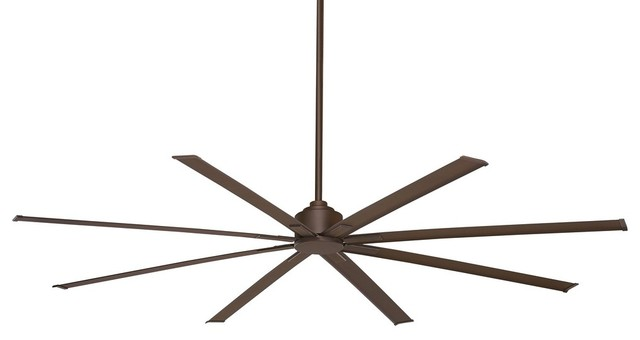 "Xtreme H2o 84"" Outdoor Ceiling Fan Brushed Nickel Brushed Nickel Blade."