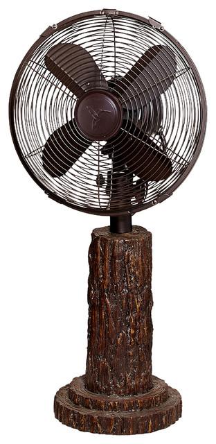 Table Fan, Fir Bark.