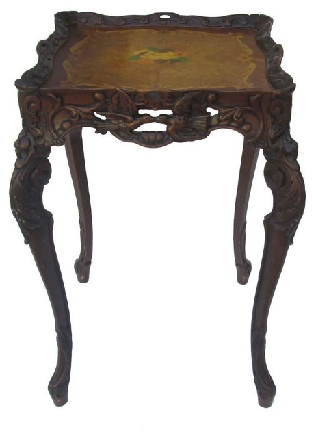 Handmade Wood Carving End Table Plant Stand Asian Plant Stands And. Golden  Lotus Antiques Handmade
