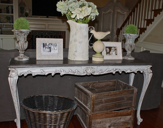 French Country Sofa Table Eclectic
