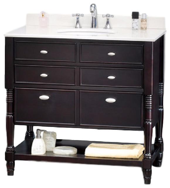 Elizabeth Vanity Dark Espresso 36 Transitional Bathroom Vanities And Sink Consoles By
