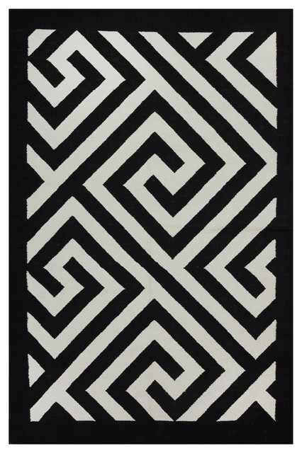broadway rug black and white 2u0027x3u0027 contemporary area rugs