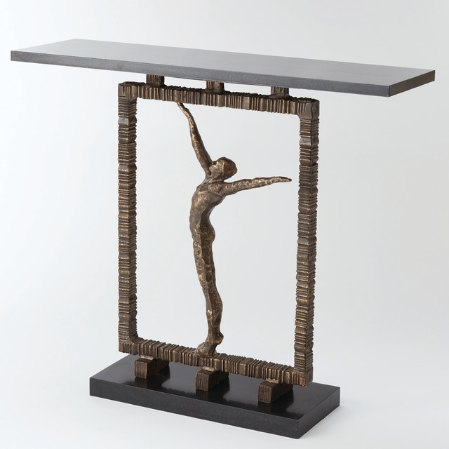 Global Views Reach Out Of The Box Console Table Contemporary Console Tables