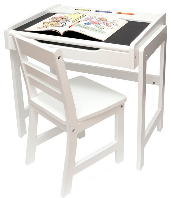 Swell Lipper Childs Desk With Chalkboard Top And Chair Set White Short Links Chair Design For Home Short Linksinfo