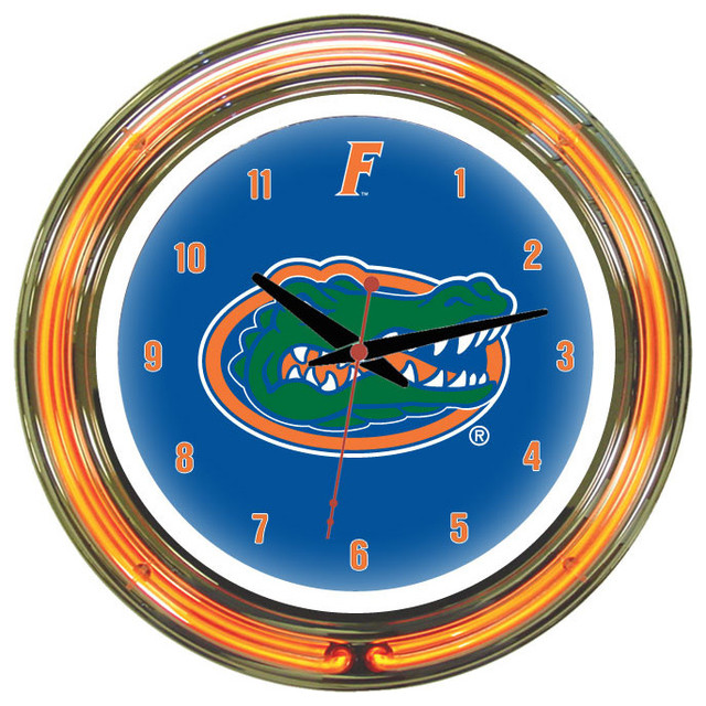 Wall Clocks With Neon Lights : Florida Gators 18