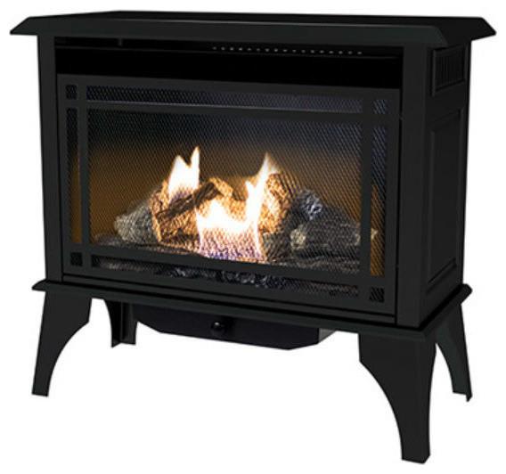 Kozy World Gsd2845 Monterey Vent Free Gas Stove, Black, 30000 Btu.