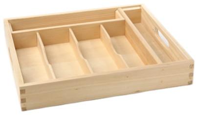 Wood Flatware Tray.