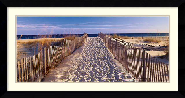 joseph sohm pathway to the beach framed art print 43x23 artwork